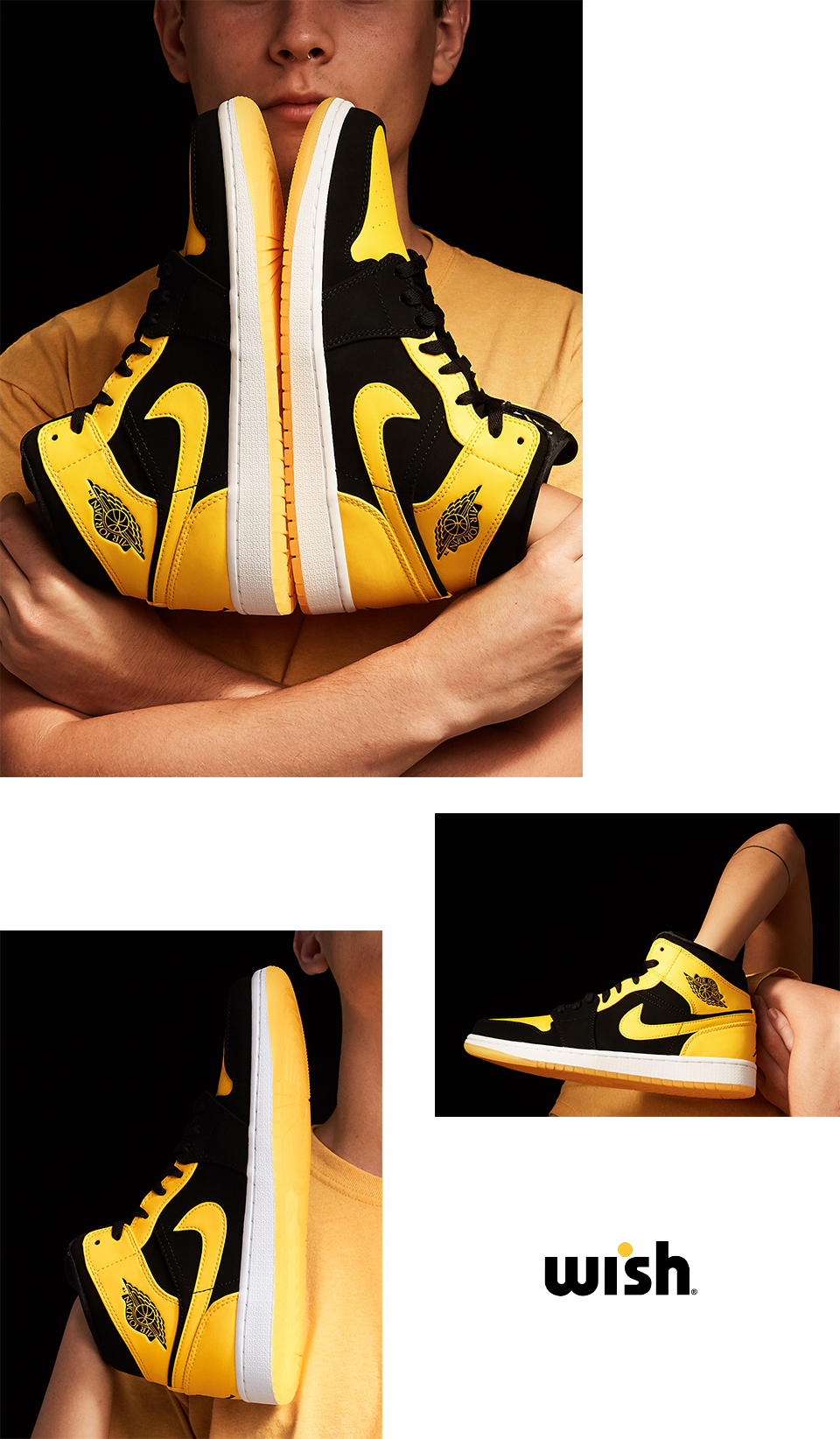 Air Jordan 1 Mid Black & Yellow