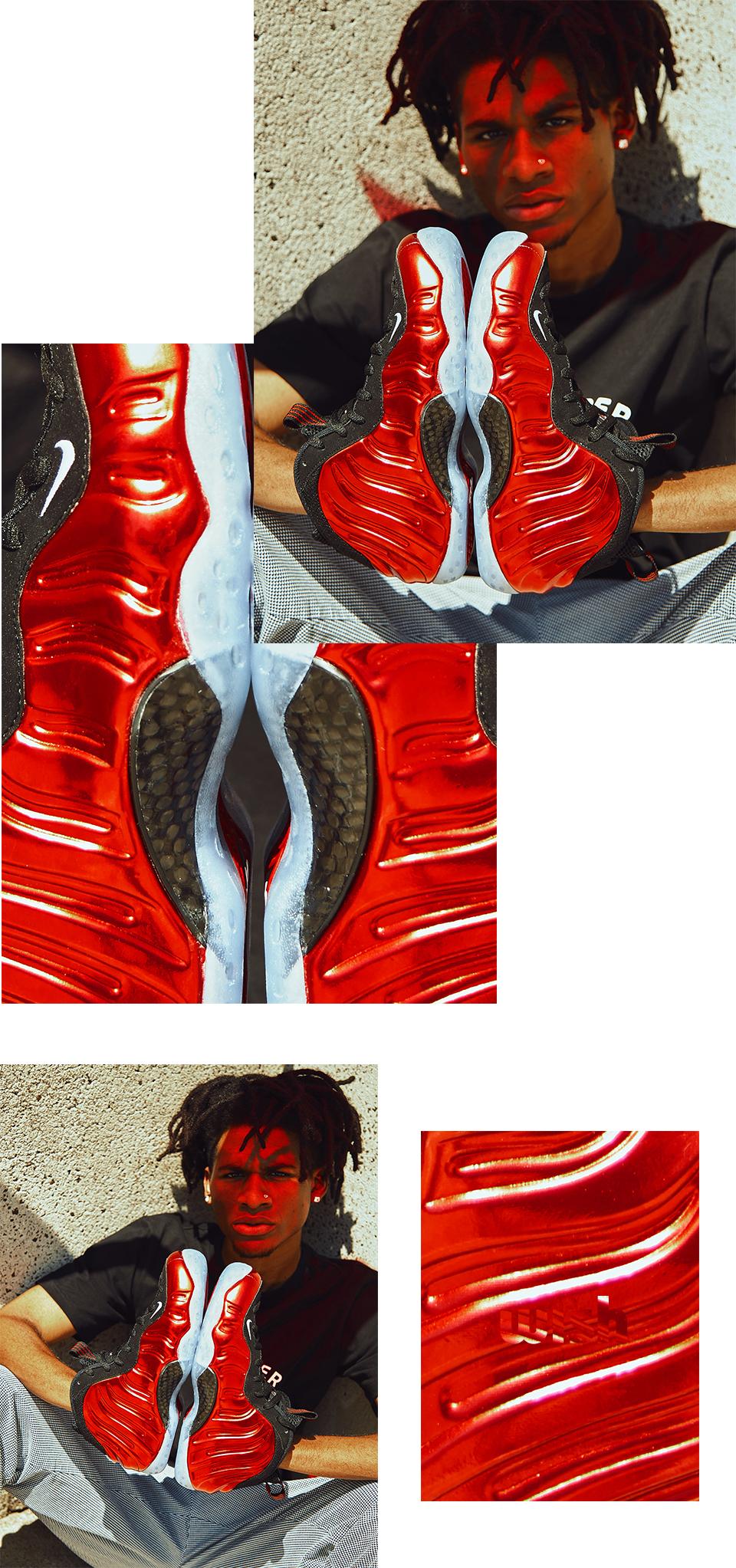 Nike Foamposite in Metallic Red