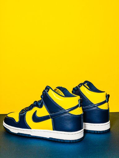 "Coming Soon: Nike Dunk Hi ""Maize & Blue"""